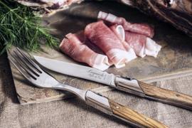 Laguiole steakmessen luxury line Olijfhout