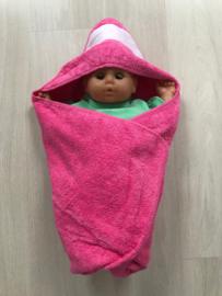 Babyhanddoek roze