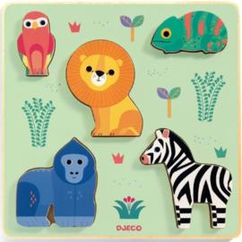 Djeco houten puzzel safari Emilion
