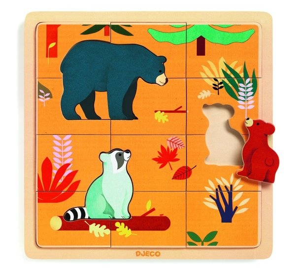 Djeco houten puzzel Canada (15 st)