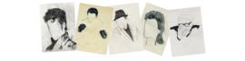 5 postkaarten 'Died Today'