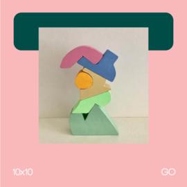 Pastel sculptuur 1 | beeldhouwkunst | 10x10 | GO