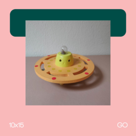 Ufo Oranje | Beeldhouwkunst | 10x15 | GO