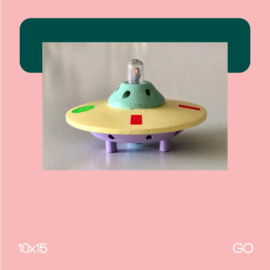 Ufo V | Beeldhouwkunst | 10x15 | GO