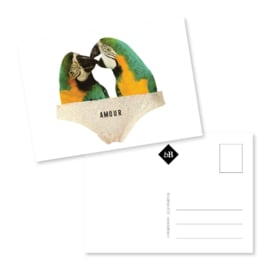 Kunst kaart | Love birds | EB