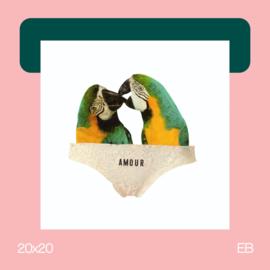 Love Birds | collage | 20x20 | EB