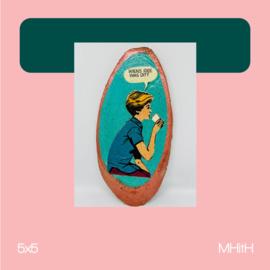 Geen idee | mixed media | 5x5 | MHitH