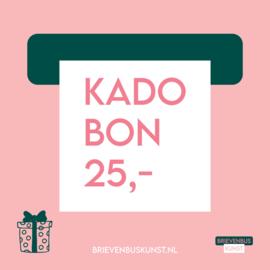 Kadobon 25,-
