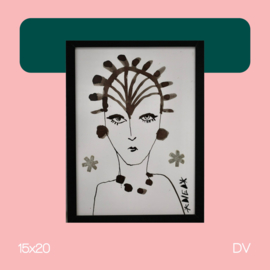 Lady A | illustratie | 15x20 | DV