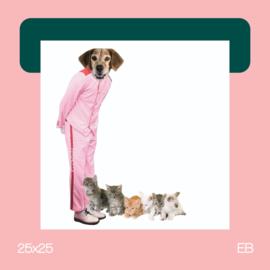 De babysitter | collage | 25x25 | EB
