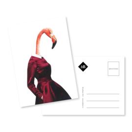 Kunst kaart   Fien Flamingo   EB