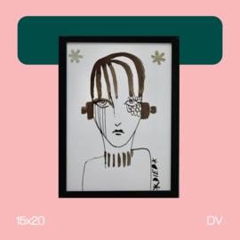 Lady F | illustratie | 15x20 | DV