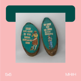Tweeluik | mixed media | 5x5 | MHitH