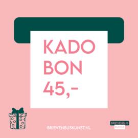 Kadobon 45,-