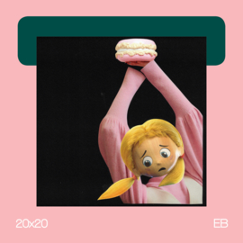 De laatste macaron | collage | 20x20 | EB