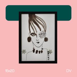 Lady B | illustratie | 15x20 | DV