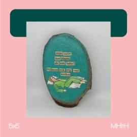 Schone slaper | mixed media | 5x5 | MHitH