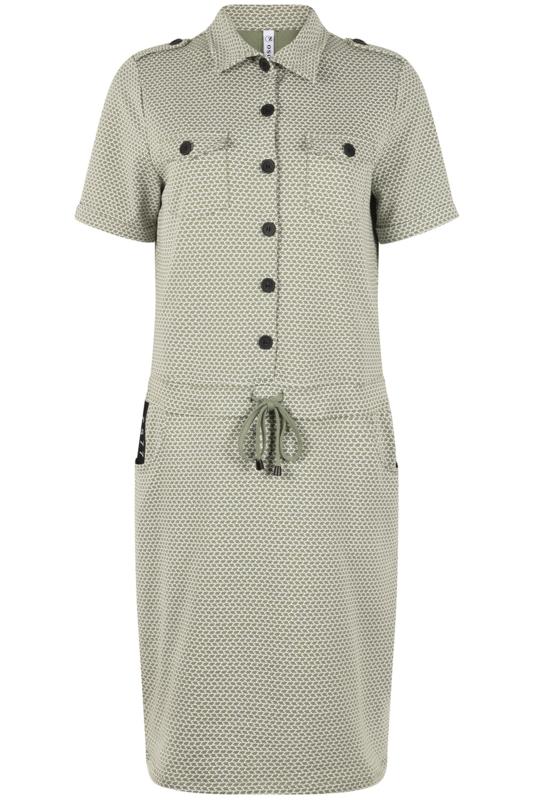 Zoso jurk Maud  green/white