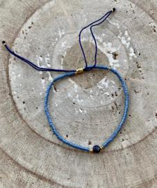 Bracelet blauw-paars