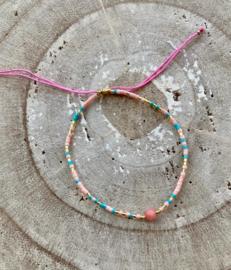 Bracelet roze mix