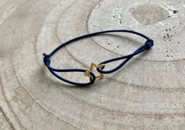 Armband RVS blauw ster