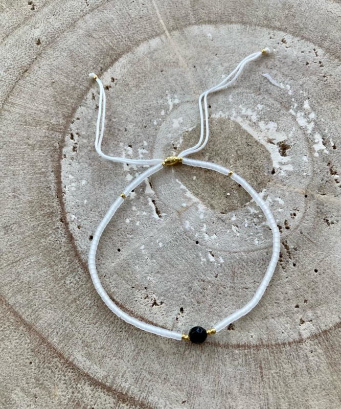 Bracelet wit-zwart