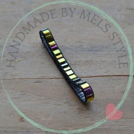 Geweven armband  black beauty
