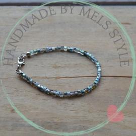 Armband met kristal glaskralen