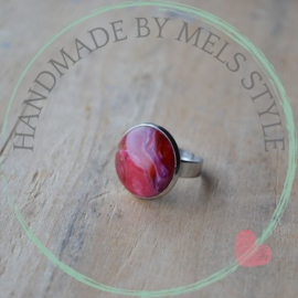 Chique RVS Dames Ring Wine Inktspot