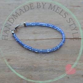 Armband met kristal glaskralen blue