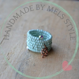 Rocailles ring turquoise