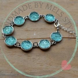 Druzy Resin armband turquoise