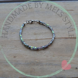 Armband met kristal Green Ab Rainbow kralen