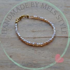 Armband Amber kristal glas kralen