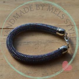 Miyuki delica armband Amethyst Lined crystal AB