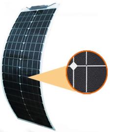 50Wl ETFE flexibel zonnepaneel