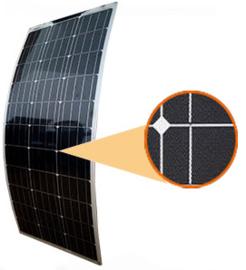 100W ETFE flexibel zonnepaneel