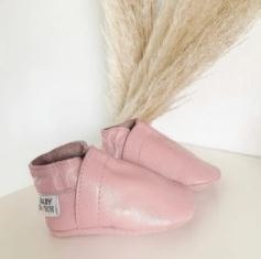 Babyslofjes Baby Dutch effen roze
