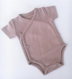 Romper Baby's Only korte mouwen OUD ROZE (rib)