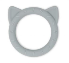 Mushie Teether Cat (stone)