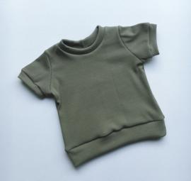 T- shirt zomer rib olive
