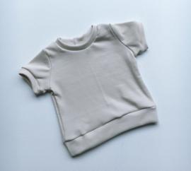 T- shirt zomer rib nude/beige