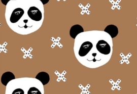 Kleedje panda brown