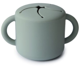 Snack Cup Mushie Cambridge Blue