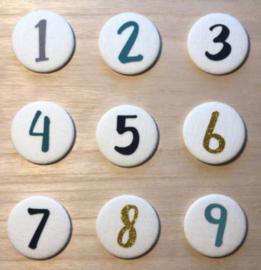 Cijferbutton (muslin collectie)