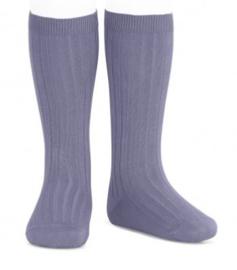 Kniekousen rib Lavendel/Paars (135)