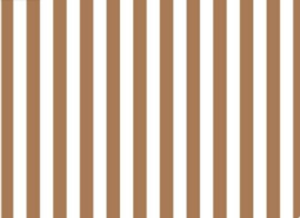 Kleedje vertical lines brown