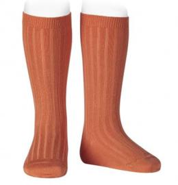 Kniekousen rib Peach/Oranje (691)
