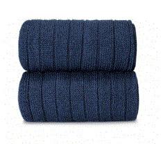 Suspender tights zonder voetjes navy blue
