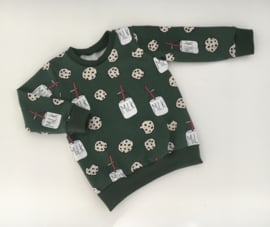 Sweater cookies & milk dark green